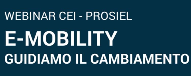 WEBINAR E-MOBILITY: GUIDIAMO IL CAMBIAMENTO